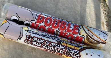 double nom nom pre-roll by the country club strain review by jean_roulin_420 2