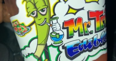strawberry lemonade by mr. trippy's edibles drinkable review by sjweed.review