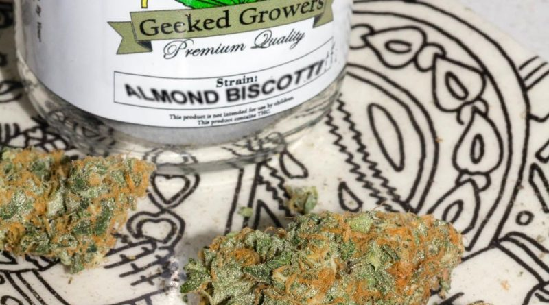 almond biscotti by geeked growers strain review by trunorcal420