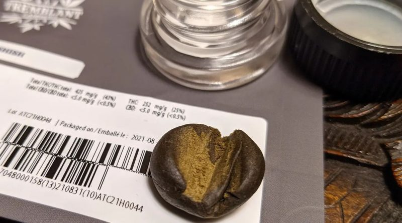 hashish by tremblant concentrate review by terple grapes